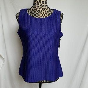 Calvin Klein Royal Blue Business Sleeveless Blouse